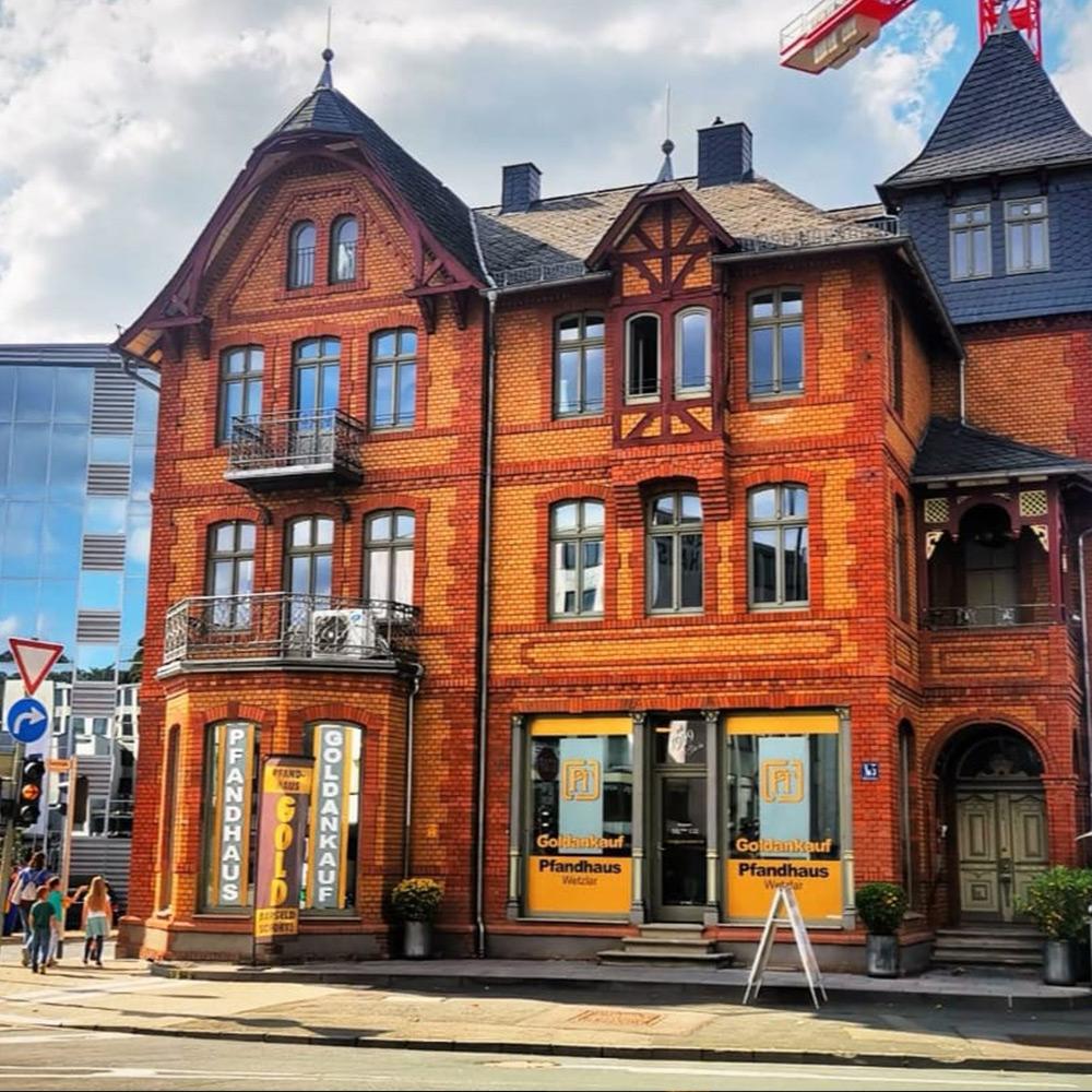 Gebäude und Eingang Pfandhaus Wetzlar